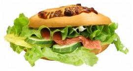 Сэндвич с сёмгой и амлетом